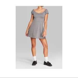 Wild Fabel Grey Skater Dress